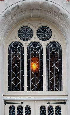 Above the church doors in Kokomo, Indiana USA