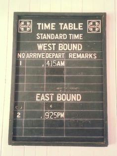 Old Fashion Train Station Time Board