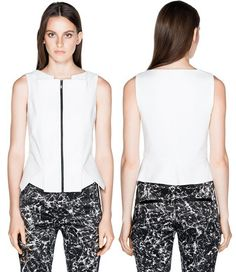 Cue Cotton Twill Origami Peplum Top