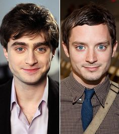 Daniel Radcliffe and Elijah Wood - Somebody needs to write a movie where they play brothers!