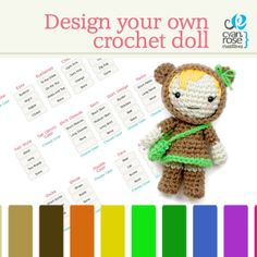 Design Your Own Doll  Amigurumi Crochet  Made by CyanRoseCreations, $30.00