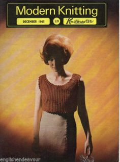 Modern Knitting December 1965 - Vintage Machine Knitting Magazine with Patterns