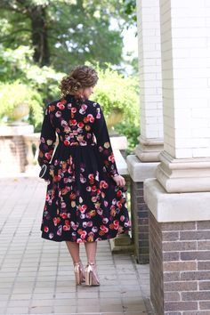 modest fashion, modest bridesmaid dresses, modest clothing, modest dresses, modest skirt, modest top, modest apparel, hijab, long sleeves, 3/4 sleeves, modest swimwear, ruffles and lace, long dress, modest swimsuit, bow dress, lace dress, elegant, victorian, vintage, bridesmaid, wedding, flower girl, plus size, black with red florals, she walks in beauty dress