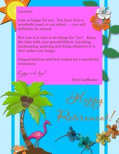 Retirement Scrapbook Pages | Retirement Scrapbook Page - Luau Theme