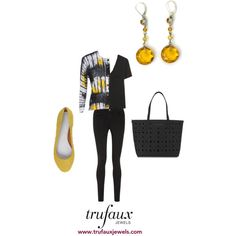 Adorn this cardigan with these citrine crystal Art Deco earrings, and you'll look smart to go anywhere.