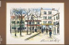 Maurice Utrillo (French, 1883-1955). Paris Square, 1883-1955. The University of Michigan Museum of Art, Michigan. Gift of Herbert Barrows, 2000. http://www.umma.umich.edu