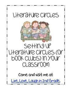 The following packet includes posters and hand outs to guide your first week of instruction for Literature Circles.  *There are 6 posters that ...