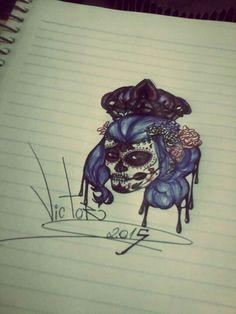 Desenho finalizado GIRL MEXICAN