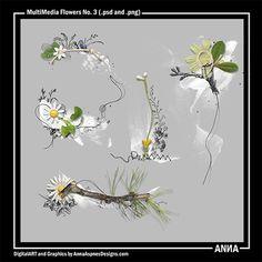 Oscraps :: Shop by Designer :: Anna Aspnes Designs :: MultiMedia Flowers No. 3