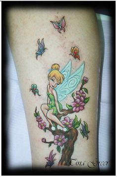 Appealing Fairy Tinkerbell Tattoos (9)