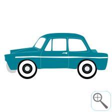 Originele deursticker en muursticker voor de kinderkamer door Perron 11 Muursticker auto groot Daf Petrol