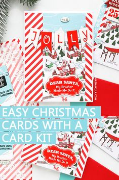 December 2018 Card Kit - Easy Holiday Cards by Yana Smakula for Simon Says Stamp Religious Christmas Cards, Simple Christmas Cards, Holiday Cards, Christmas Ideas, Cardmaking And Papercraft, Simon Says Stamp, Card Kit, Back Home, Note Cards