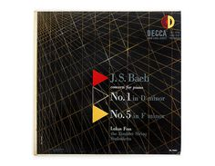 Erik Nitsche record album design 1952. J.S. Bach by NewDocuments, $29.00
