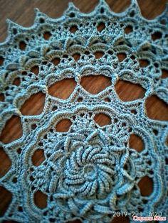 Crochet Mat, Crochet Mandala Pattern, Crochet Dollies, Crochet Granny, Crochet Flowers, Crochet Patterns, Russian Crochet, Irish Crochet, Doilies