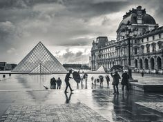 Stormy day at the Louvre. Photograph by Will Rice