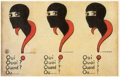 film poster for 10-part serial 'les vampires' by louis feuillade (1915)