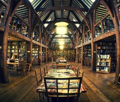 The Bedales Memorial Library, Steep UK, designed by Ernest Gimson, is regarded to be one of the finest Arts & Crafts buildings in UK.. Photography by george.wilson