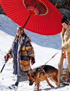 Anna Selezneva & Noma Han for Vogue Japan