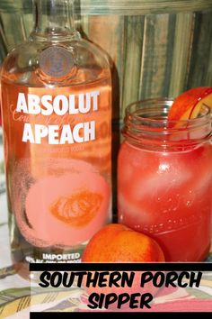 Southern Porch Sipper with Absolut Apeach Looking for a grea. Southern Porch Sipper with Absolut Apeach Looking for a great southern cocktail? Check out my summer style series with Absolute Apeach! Party Drinks, Cocktail Drinks, Fun Drinks, Yummy Drinks, Cocktail Recipes, Alcoholic Drinks, Peach Vodka Drinks, Ciroc Peach, Summer Cocktails