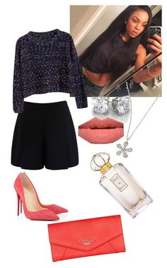 """Live in Love"" by dianelovett ❤ liked on Polyvore featuring Forever New, Christian Louboutin, Chicnova Fashion, KC Designs, Yves Saint Laurent, Oscar de la Renta and Lipsy"