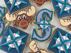Seattle Mariners Cookies – Semi Sweet Designs