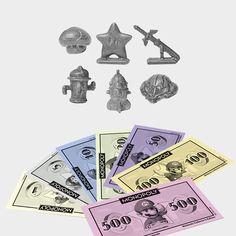 Monopoly Nintendo - Mario, Luigi, Link, Zelda, Kirby und andere bunten Helden bestimmen das Spiel! Sechs exklusive Spielfiguren: Superstern, Superpilz, Master-Schwert, Samus Helm, Olimars Rakete und Gyroid! ?-Block-Karten und Block-Karten ersetzen Ereignis- und Gemeinschaftskarten! Besonderes Nintendo-Geld ersetzt die original Monopoly-Scheine!