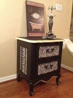 CUSTOM ORDER Leopard Hand Painted French by JenniferParisDesigns, $150.00
