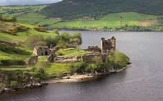 Urquhart Castle on Loch Ness in Scotland. One of the most beautiful and somewhat eerie sites for a castle in Scotland. Loch Ness Scotland, Scotland Castles, Scottish Castles, Inverness Scotland, Oh The Places You'll Go, Places To Travel, Travel Destinations, Places To Visit, Ben Nevis