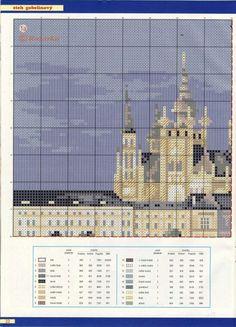 Прага Cross Stitch Landscape, Willis Tower, Taj Mahal, Scenery, Louvre, Canvas, Pattern, Travel, Places