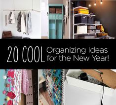 DIY, Buy, Hack! 20 Organizing Ideas for 2013!