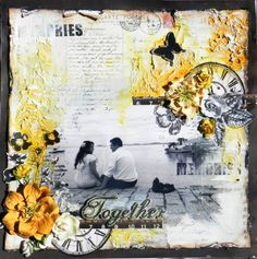 Another gorgeous wedding layout by Solange Marques for Prima! #summertime #weddings #summerwedding #scrapbooking