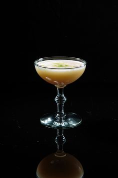 Chris Lowder, bar manager at The NoMad Bar in New York City, pairs pisco with bourbon, gingery falernum syrup, and an herbal Italian liqueur for this frothy autumnal cocktail.