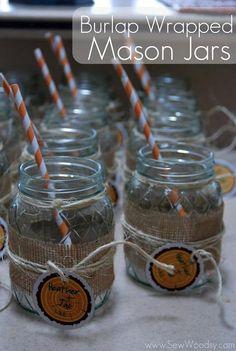 DIY Burlap Wrapped Mason Jars DIY Burlap DIY Crafts