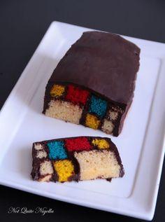 Mondrian Battenberg Cake by @Lorraine Elliott