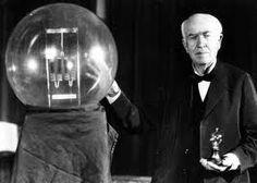 Image of Thomas Edison with His Light Bulb