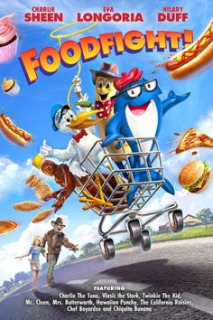 Food Fight movie.  Poor made movie. Animation was terrible, Full of sexual innuendos and Nazi references. Watched June 19, 2015.