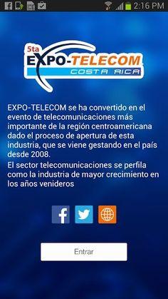 EXPO-TELECOM se ha convertido en el evento de telecomunicaciones más importante de la región centroamericana dado el proceso de apertura de esta industria, que se viene gestando en el país desde el 2008.<br>El sector de telecomunicaciones se perfila como la industria de mayor crecimiento en los años venideros y se estima que los volúmenes de inversión se incrementaran y dinamitaran todos los sectores económicos del país.<p>Dentro del contenido que usted podrá encontrar en esta aplicación se…