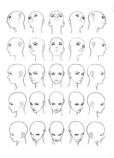 See more ideas about head angles, drawing heads and draw faces. Face Drawing Reference, Female Face Drawing, Profile Drawing, Body Drawing, Art Reference Poses, Drawing Tips, Drawing Techniques, Anime Face Drawing, Face Drawing Tutorials
