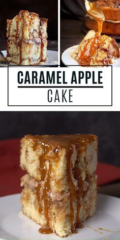 The perfect Thanksgiving dessert recipe that all your guests will love! This Apple Cake with Caramel Sauce has all the flavors of fall. It is so delicious and so easy to make! Save this pin for later! desserts for a group Caramel Apple Cake Thanksgiving Desserts Easy, Holiday Desserts, Just Desserts, Delicious Desserts, Desserts Caramel, Desserts For Dinner Party, Recipes For Desserts, Christmas Dessert Recipes, Easy Christmas Cake Recipe