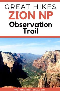 Looking for very special things to do in Zion National Park? Then check out Observation Trail. It's a Zion Hike to be remember! Read on for the full story of hiking in Zion National Park. National Park Passport, National Park Camping, National Park Tours, Us National Parks, Zion Hikes, Utah Vacation, Utah Camping, Hiking Photography, Best Hikes