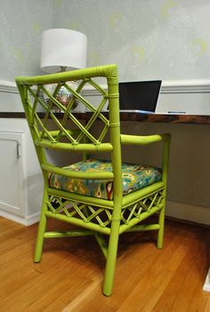 Bamboo chairs - do mine with a more yellow frame and black / white / grey fabric