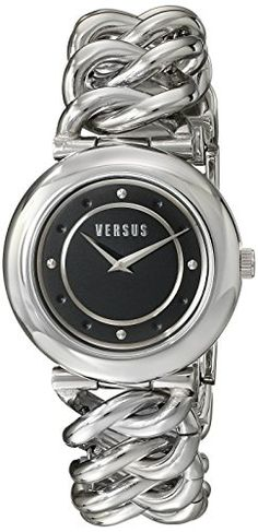 Versus by Versace Womens SOE020014 Brickell Analog Display Quartz Silver Watch -- You can get more details by clicking on the image.Note:It is affiliate link to Amazon.