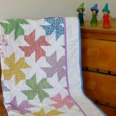 Modern baby quilt  baby girl quilt by Sheynale