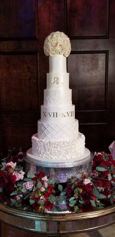 Wedding Cakes by Tammy Allen - Cakes & Desserts - Weddings in Houston 6 Tier Wedding Cakes, Luxury Wedding Cake, Wedding Cake Flavors, Amazing Wedding Cakes, Elegant Wedding Cakes, Elegant Cakes, Wedding Cake Designs, Wedding Cupcakes, Wedding Desserts