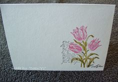 Clean & simple - one layer card - tulips