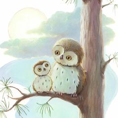 Image result for mom and baby owl pictures