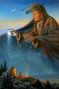 """Charles Frizzell: """"Vision Quest"""" Oh Great Spirit who made all races. Look kindly upon the whole human family and take away the arrogance and hatred which separate us from our brothers. —Cherokee Prayer [Artwork by Charles Frizzell] Native American Prayers, Native American Spirituality, Native American Wisdom, Native American History, American Indians, Indian Prayer, American Indian Quotes, American Pride, American Proverbs"""