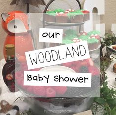 Come take a peek at our woodland themed baby shower complete with cute outdoor decorations and woodland themed eats! See how we celebrated our little boy!