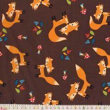 Metre Little Darling - Woodland Wonderland - Foxes On Brown