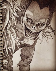 Portrait of Ryuk from Deathnote Death Note, Portrait Art, Anime, Anime Shows
